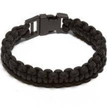 Large Black Paracord Bracelet