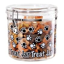 Arylic Airtight Paw Prints Pet Treat Canister