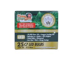 C7 LED Replacement Bulbs, Pure White (25-Pack)