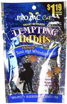 Tempting Tidbits Crunchy Tuna and Whitefish Cat Treat, 3 oz.
