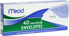 4-1/2 in. x 9-1/2 in. #10 Security Envelopes (40-Pack)