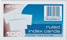 3 in. x 5 in. White Ruled Index Cards (100-Pack)