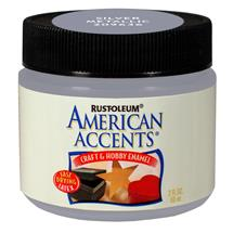 American Accents 2 oz. Silver Metallic Craft Enamel Paint