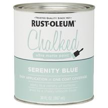 Chalked Serenity Blue Matte Paint, 30 oz.
