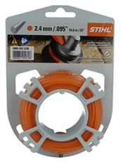 .095 in. x 47 ft. Round Trimmer Line, Orange