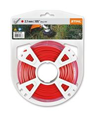 .105 in. x 111 ft. Round Trimmer Line, Red