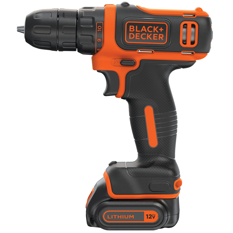 Black & decker 12v max cordless lithium drill/driver.
