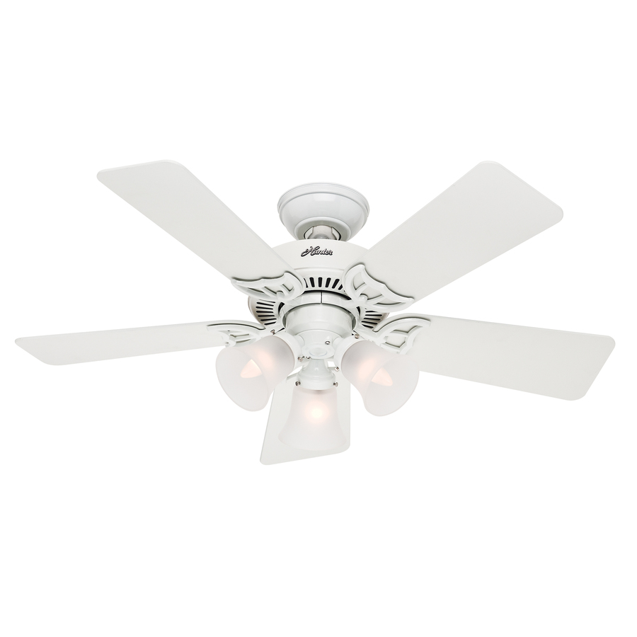 Hunter southern breeze 42 in ceiling fan with 3 light kit white southern breeze 42 in ceiling fan with 3 light kit white aloadofball Image collections