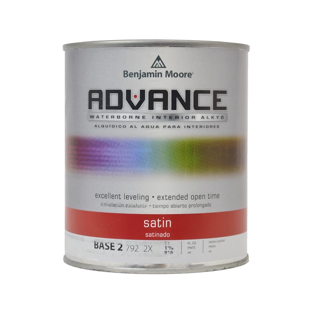 ADVANCE Base 2 Satin Alkyd Interior Paint, 1 Quart