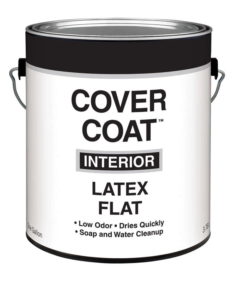 Cover Coat Interior Latex Paint Flat Antique White 1 Gallon