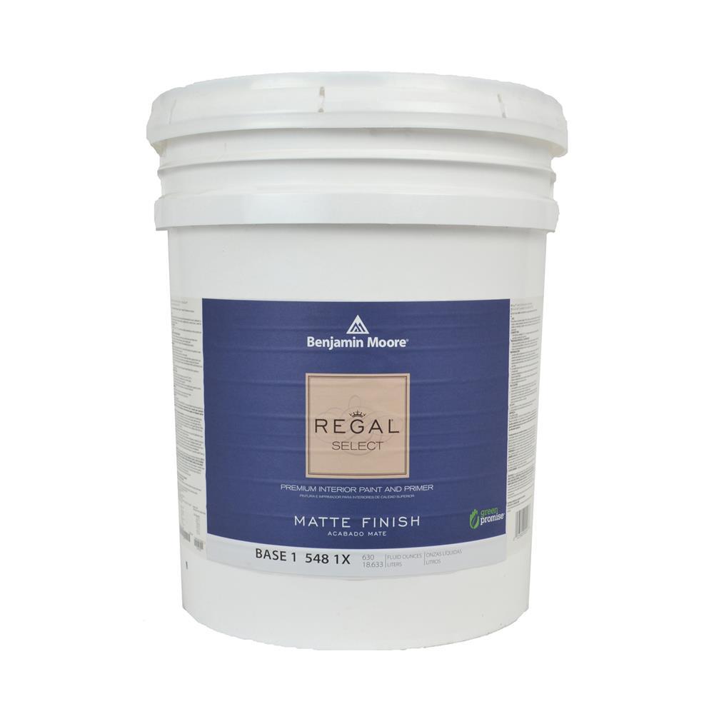 Benjamin Moore Regal Select Base 1 Matte Interior Paint 5 Gallon