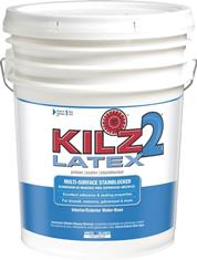 KILZ 2 Latex Primer/Sealer/Stainblocker, 5-Gallon