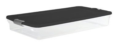 Polypropylene Clear/Black Underbed Storage Tote