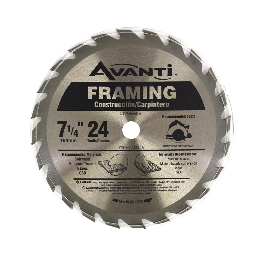 Freud Avanti 7 14 In X 24 Tooth Framing Circular Saw Blade