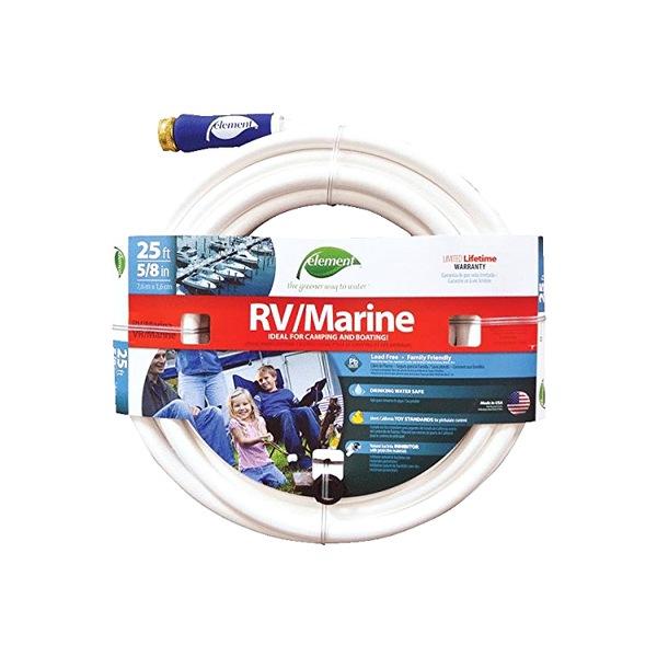 RV U0026 Marine 5/8 In. X 25 Ft. White Garden Hose