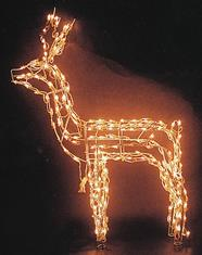 48 in. Standing Buck Lighted Wire Frame