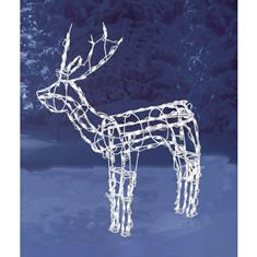 48 in. LED Standing Deer Wire Frame