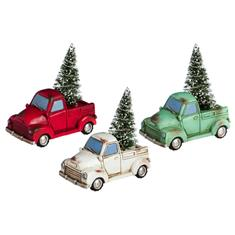 Lit Holiday Truck with Tree Mini Garden Decor, Assorted