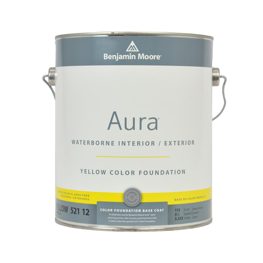 Benjamin Moore Aura Waterborne Color Foundations Interior Exterior Paint Yellow 1 Gallon