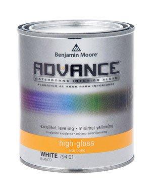 ADVANCE Waterborne High Gloss Alkyd Interior Paint, White, 1 Quart