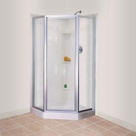 Genial DURABASE 36 In. X 36 In. Fiberglass Neo Angle Corner Shower Floor In White