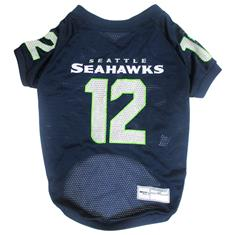 NFL Seattle Seahawks No. 12th Pet Jersey, Large