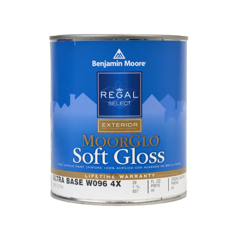 Benjamin Moore Regal Select Moorglo Base 4 Exterior Paint Soft Gloss 1 Quart