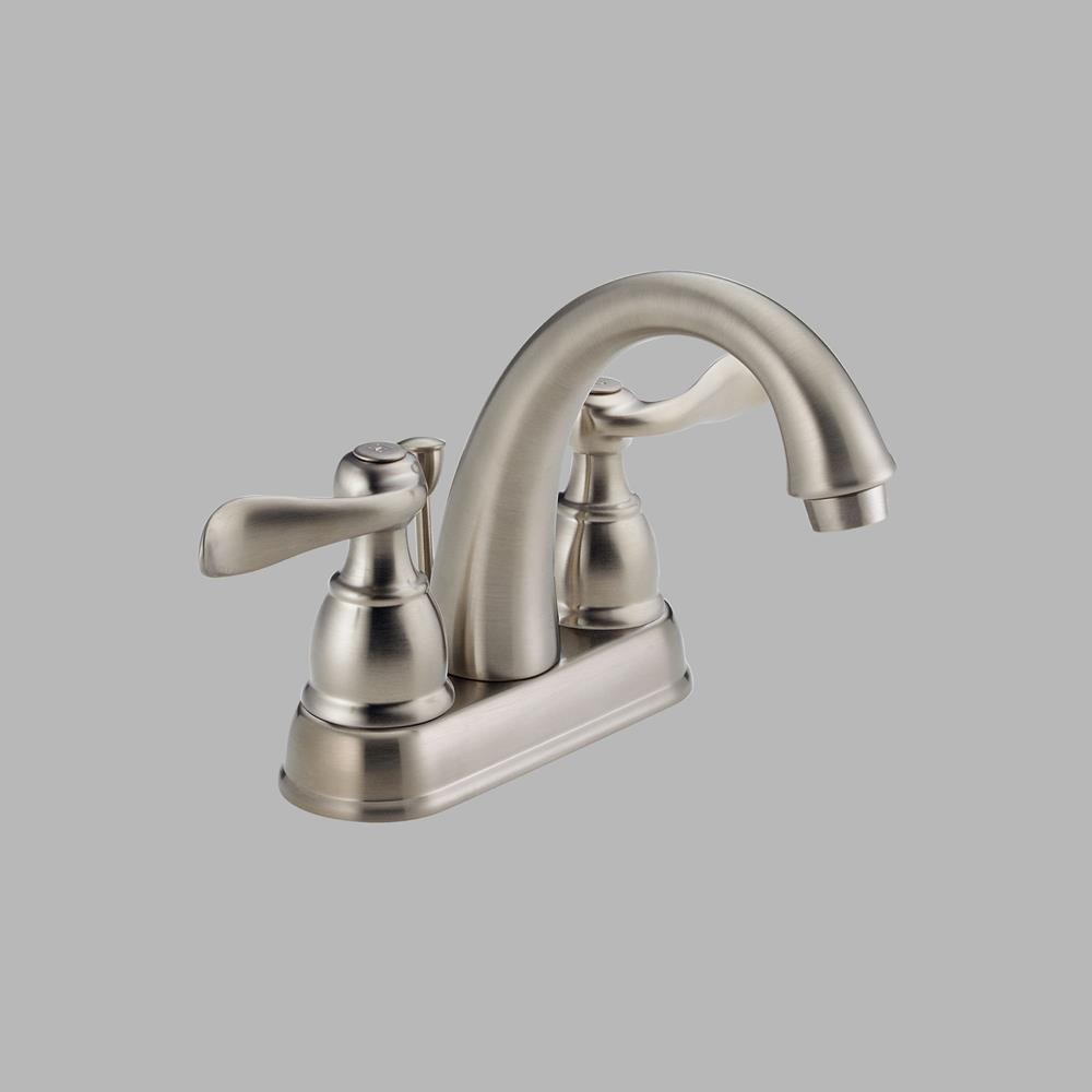 Delta - Foundations Two Handle Bathroom Faucet, Brushed Nickel