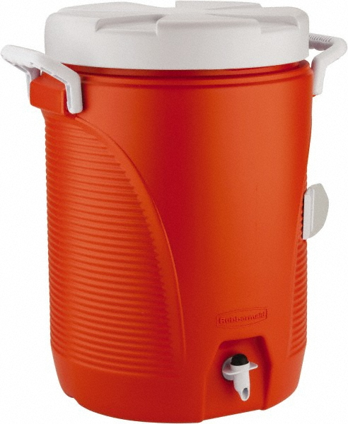 Rubbermaid - 5-Gallon Orange Water Cooler Jug with Faucet