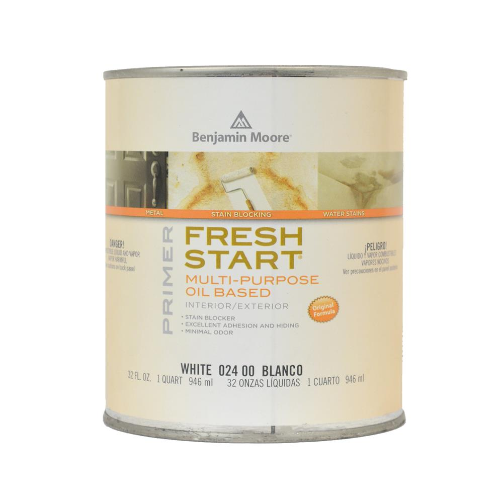 Benjamin moore fresh start deep base oil based primer 1 quart Oil based exterior paint brands