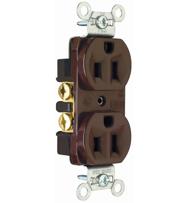 Pass Seymour 15 Amp Red Duplex Receptacle