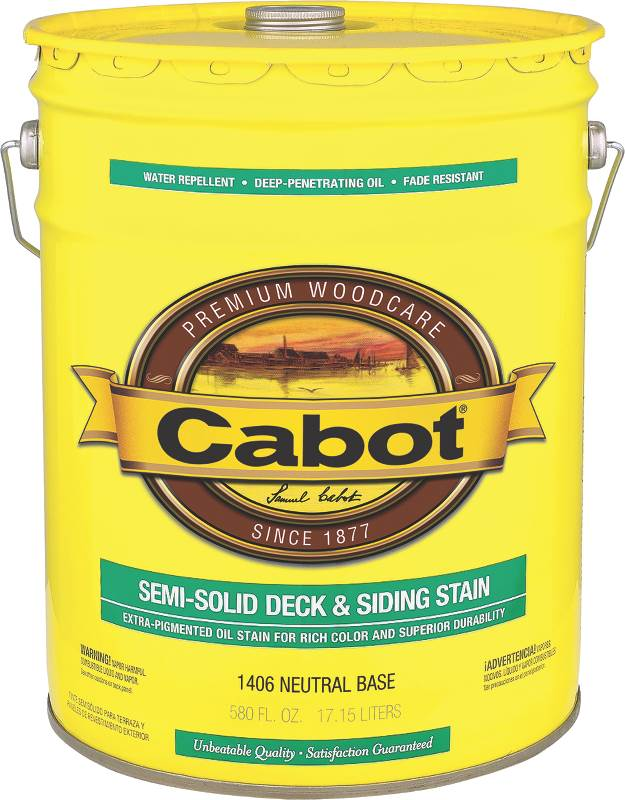 Cabot semi solid oil based deck and siding stain neutral base 5 gallon Oil based exterior paint brands