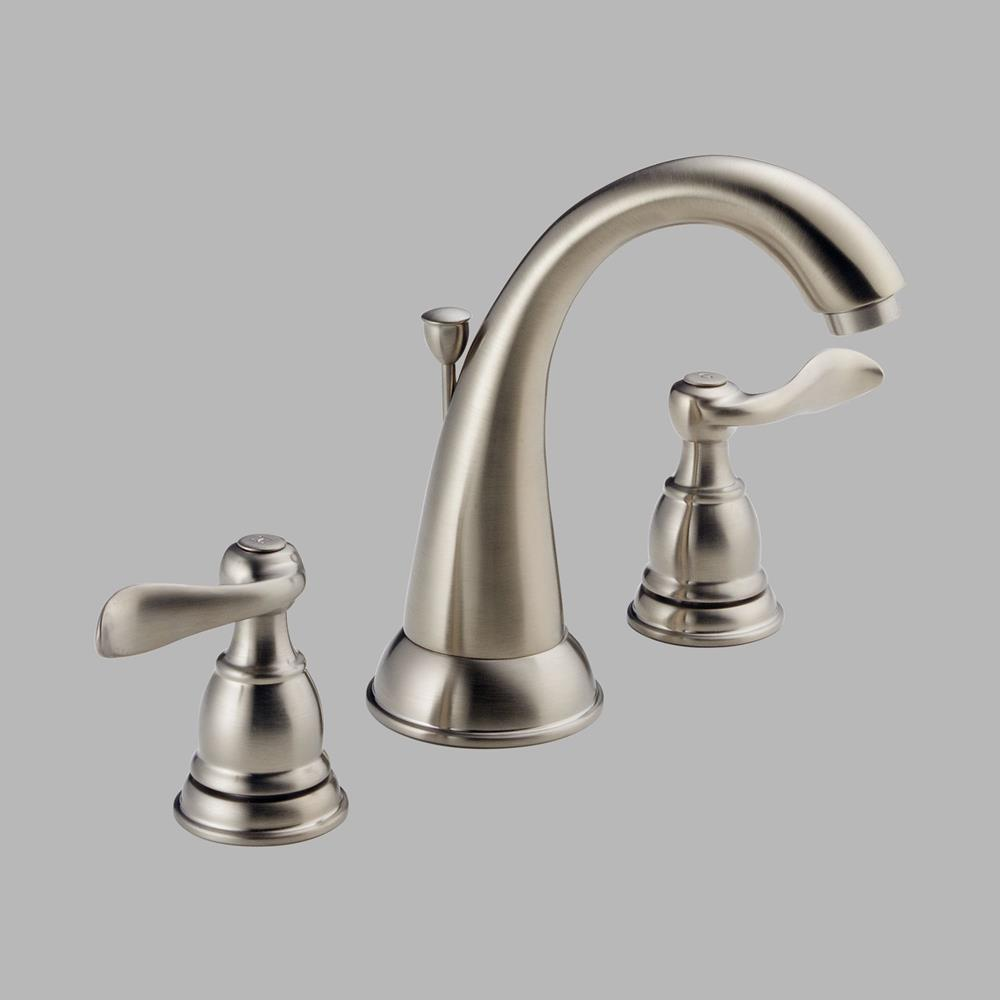 Delta Two Handle Widespread Lavatory Faucet Brushed Nickel