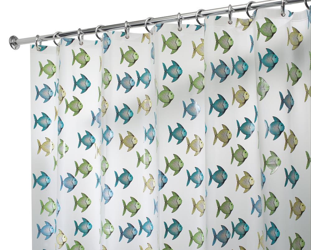 peva angel fish shower curtain