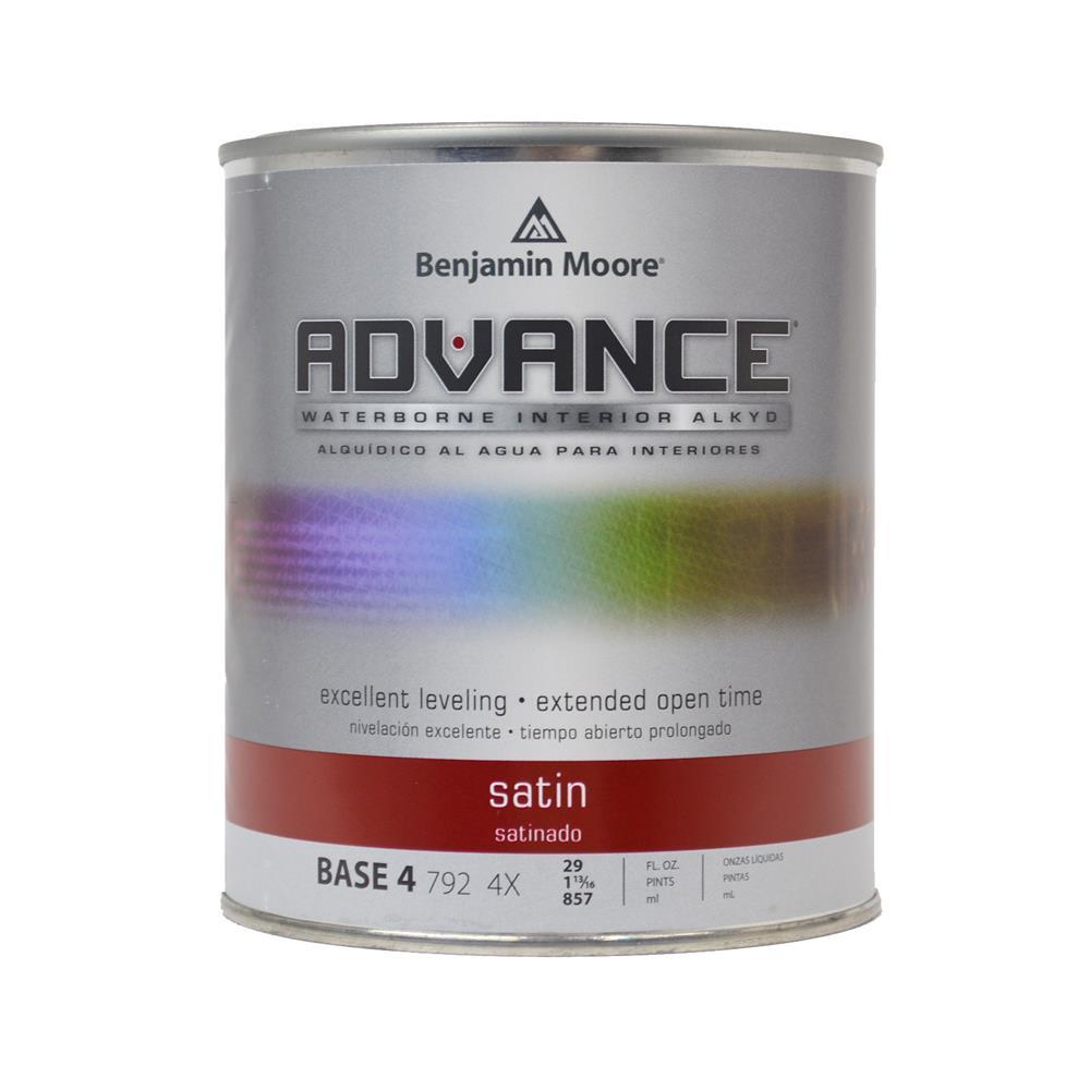 ADVANCE Waterborne Base 4 Satin Alkyd Interior Paint, 1 Quart