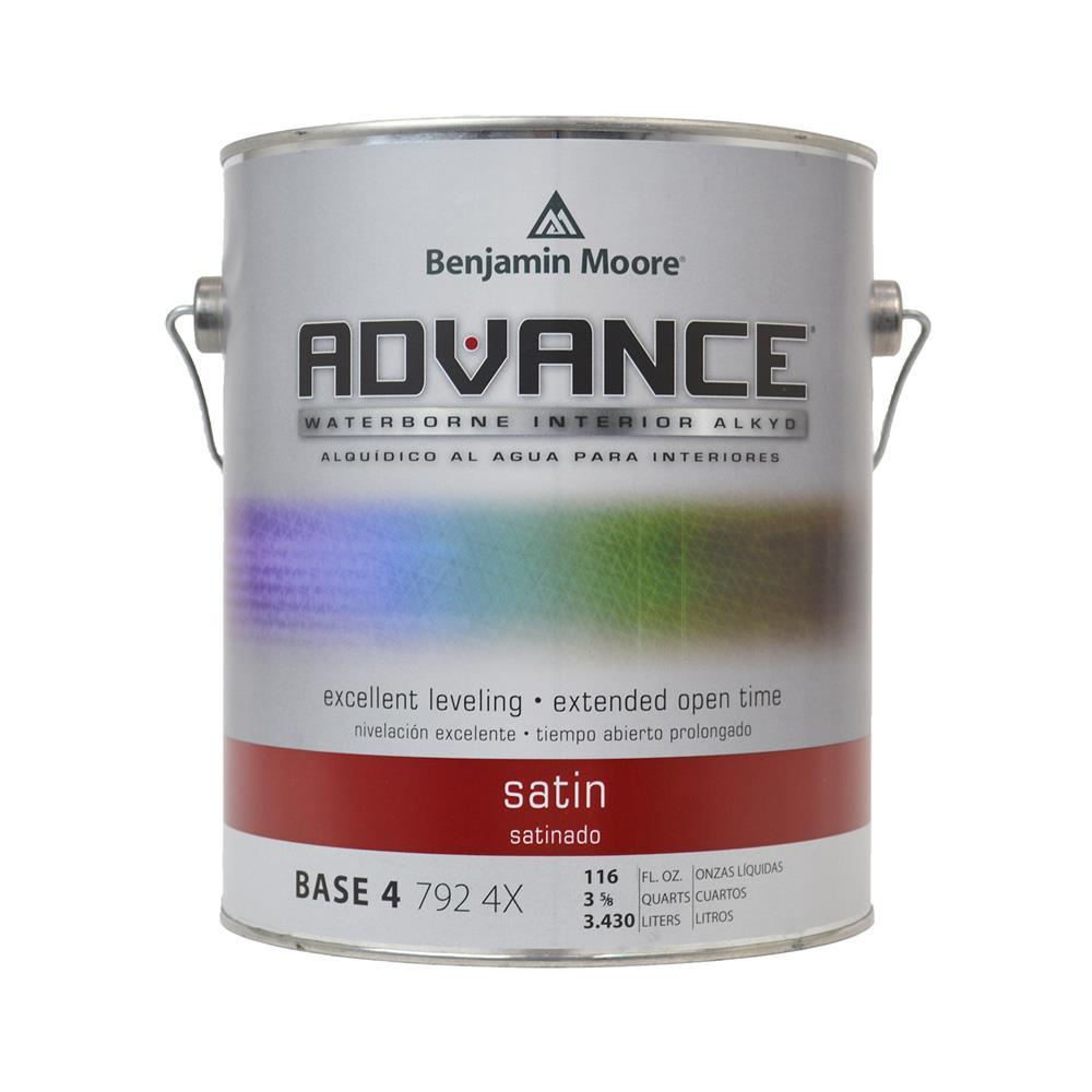 ADVANCE Waterborne Base 4 Satin Alkyd Interior Paint, 1 Gallon