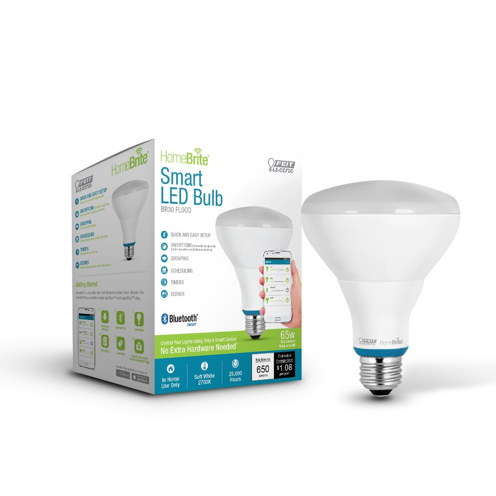 Feit Electric - 65-Watt Equivalent Dimmable Bluetooth Smart ...