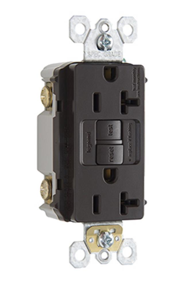 Pass & Seymour - 125-Volt 20 Amp Decorator GFCI Electrical Outlet