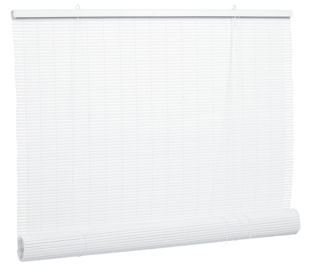 Lewis Hyman 5 Ft X 6 Ft White 14 In Oval Vinyl Roll Up Blinds