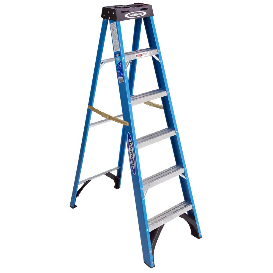 Werner 6 Ft Type I Fiberglass Step Ladder