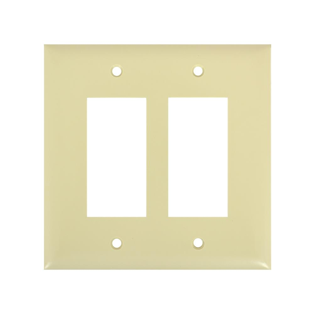 Pass & Seymour - TradeMaster Nylon 2-Gang Ivory Decorator Jumbo Wall ...