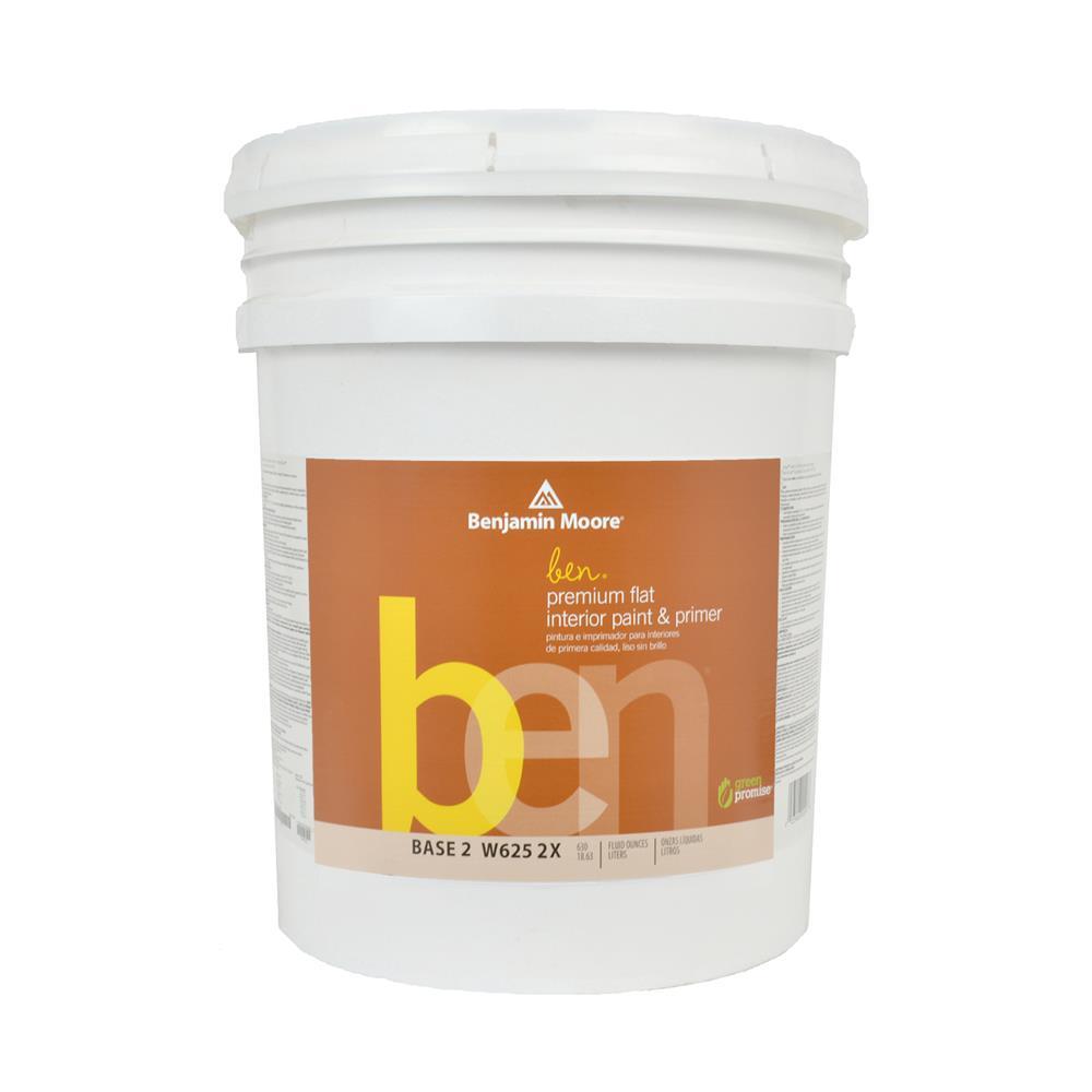 Superieur Ben Waterborne Base 2 Flat Interior Paint, 5 Gallon