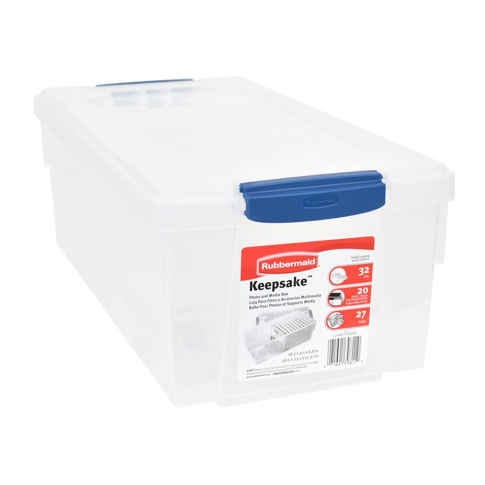 Delightful Media And Photo Storage Box, Clear