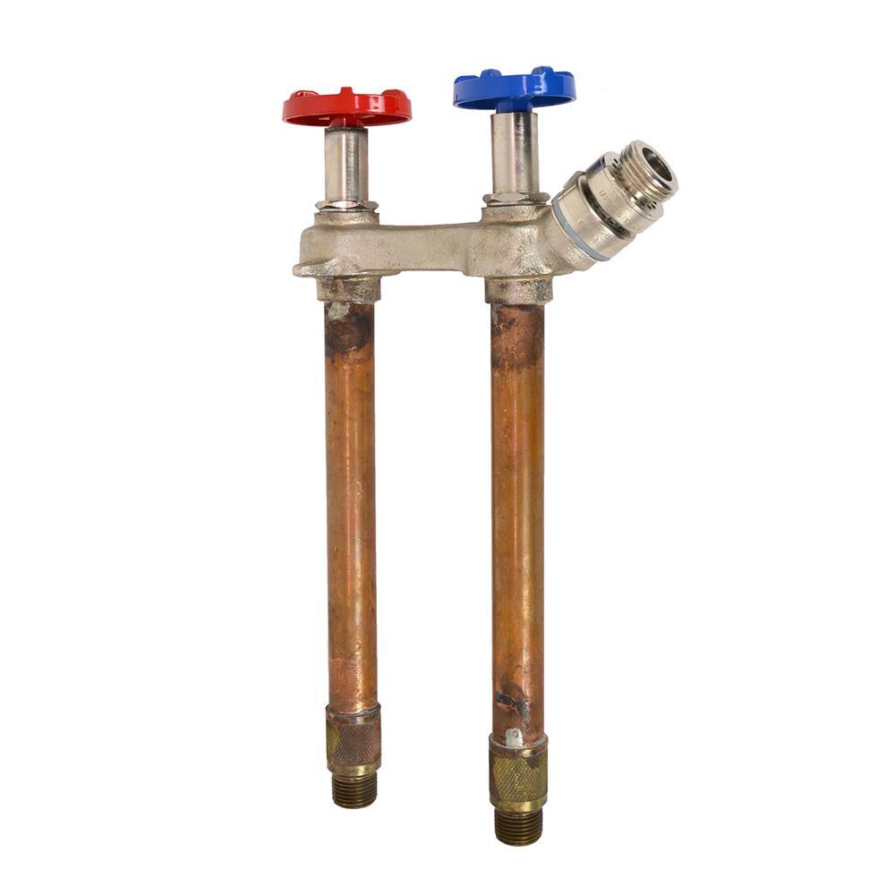 Arrowhead Brass - 8 in. Hot/Cold Frost-Free Anti-Siphon Hose Bibb
