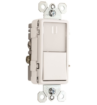 Pass & Seymour - 15 Amp White Night-Light with Single-Pole 3-Way Switch