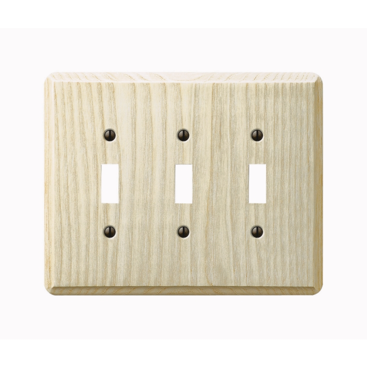 Amerelle Ash 3 Gang Switch Plate