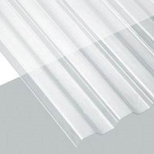 Translucent Polycarbonate Corrugated Roof Panel, Clear