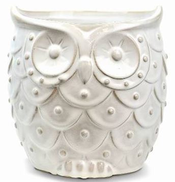 New England Pottery 7 1 4 In Whimsical Owl Planter