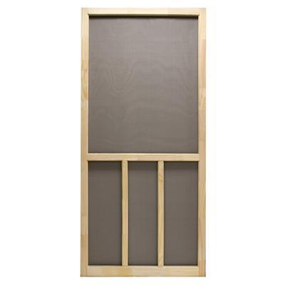 Aspen 36 In. X 80 In. Wooden Unfinished Reversible Screen Door