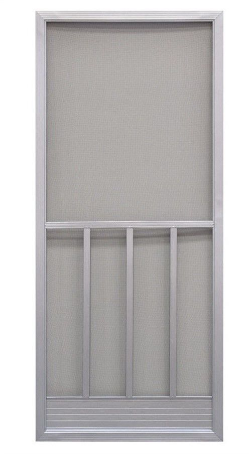 Aluminum Storm Door superior - 32 in. x 81 in. roll formed aluminum screen door, gray